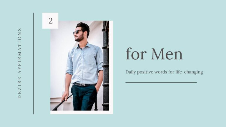 Powerful Affirmations for Men – List 2