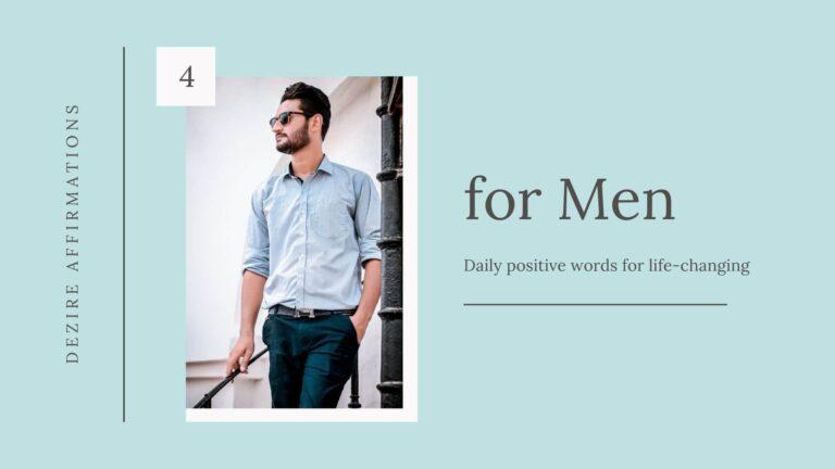 Affirmations for Men List 4