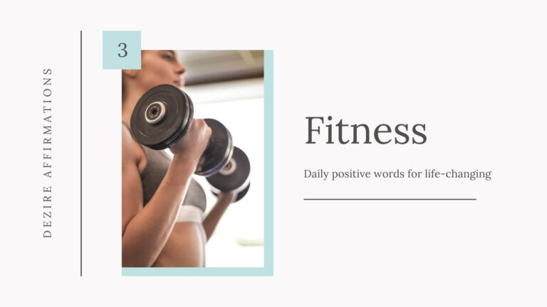 Fitness Affirmations – List 3