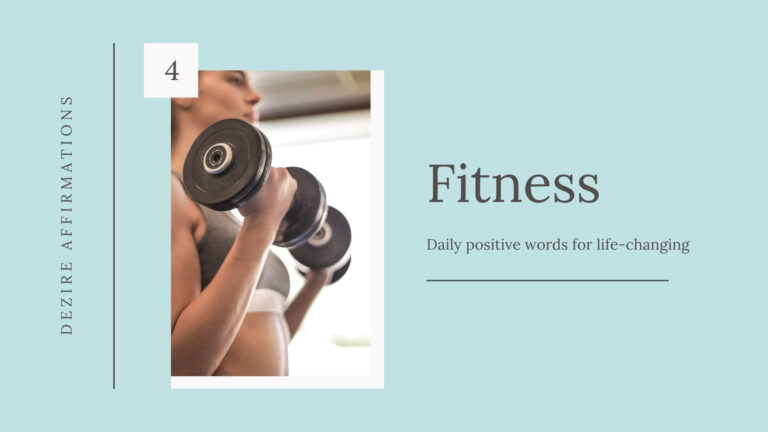Affirmations for Fitness List 4