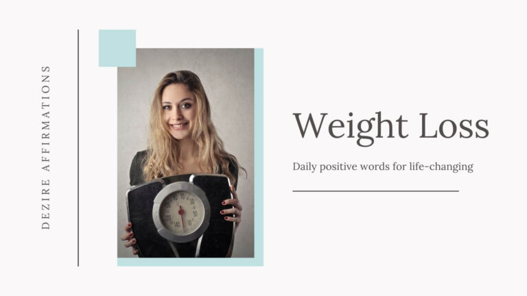 Weight Loss Affirmations that Really Work
