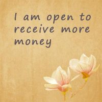 Positive phrases for money