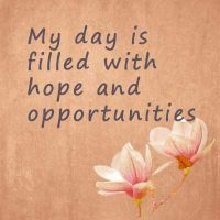 Affirmations to start the day