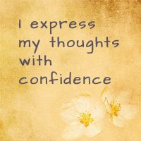 Daily affirmation for confidence