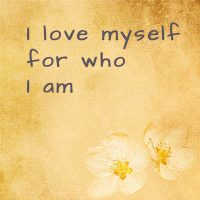 I love myself for who I am