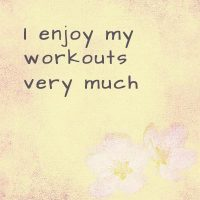 Affirmations about fitness