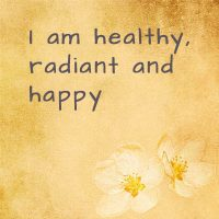 Positive health affirmations