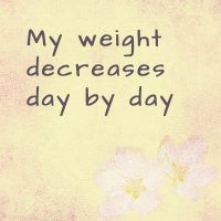 Powerful affirmations to lose weight